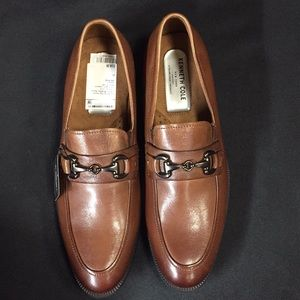Kenneth Cole Brown Leather Mens Dress Loafers 9M
